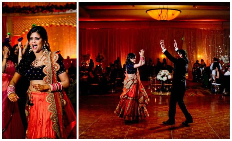 she dances A Joyful Outdoor Indian Wedding   Simply Gorgeous