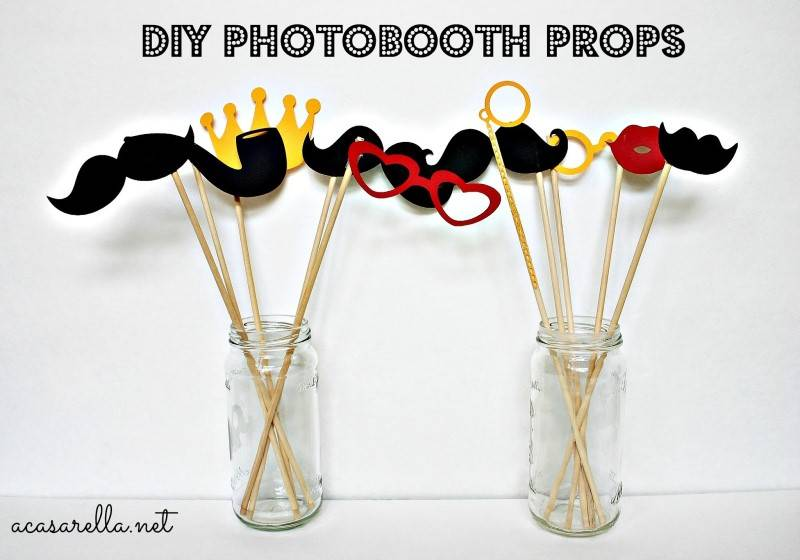 DIY Photobooth Props 1 4 Amazing Wedding DIYs You Can Complete in a Day