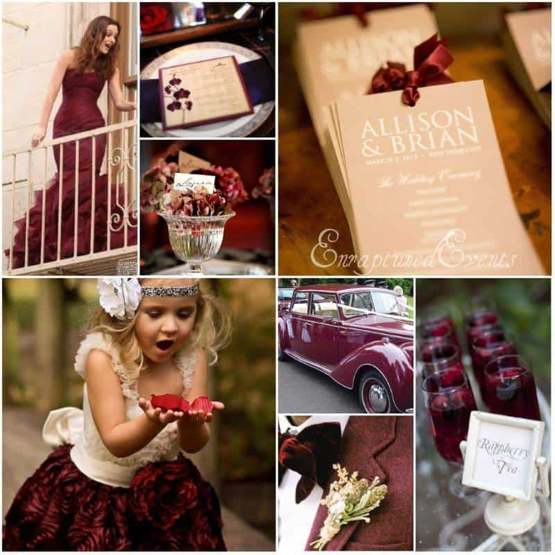 Cranberry Wedding Palette: Perfect For A Fall Wedding ...