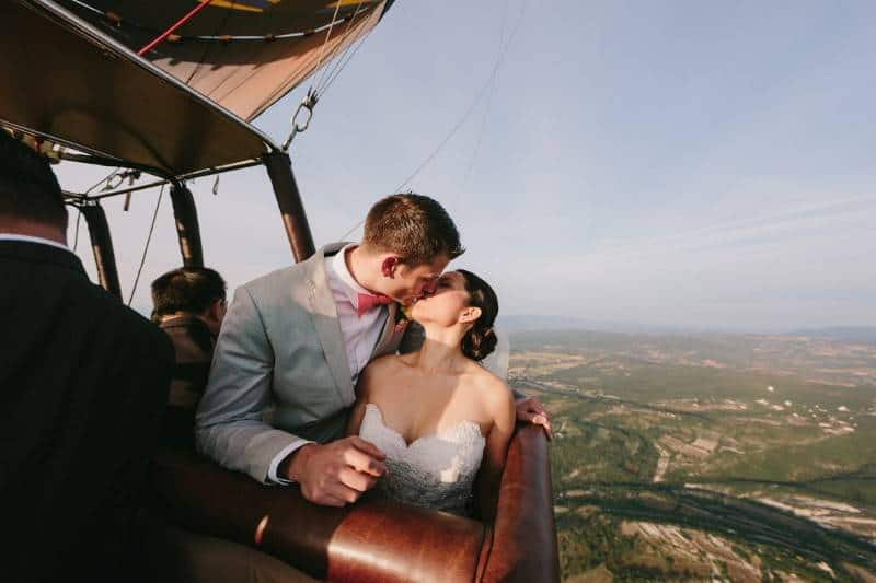 Stunning Hot Air Balloon Wedding Images