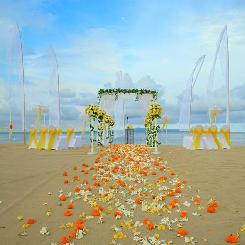 Inspired Bride beach Destination Wedding Location: Grand Mirage Resort & Thalasso Bali