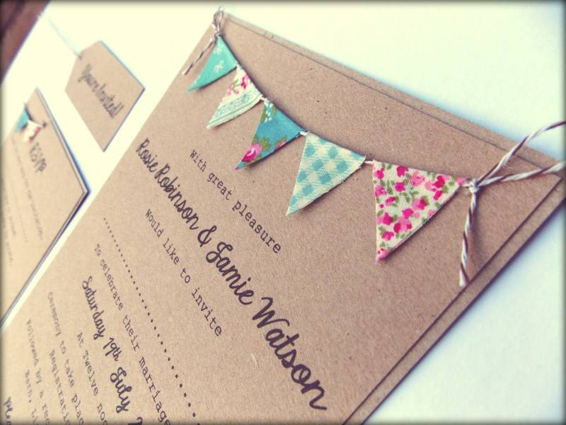 5 Beautiful Handmade Kraft Paper Wedding Invitations