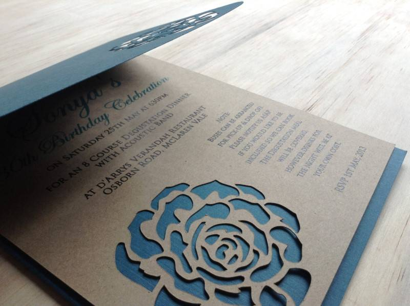 Beautiful Handmade Kraft Paper Wedding Invitations