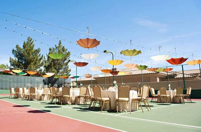 73 Super Cute Reception Decor: Hanging Umbrellas