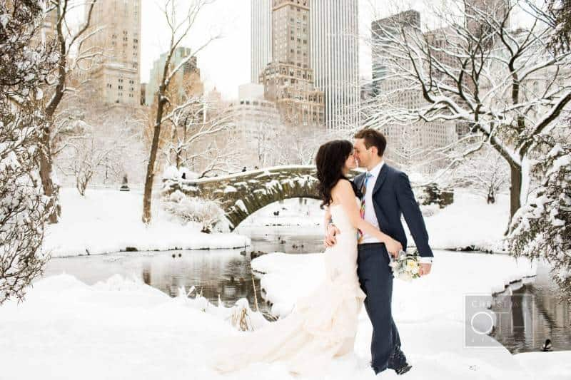 Beautiful Snowy Wedding Pictures