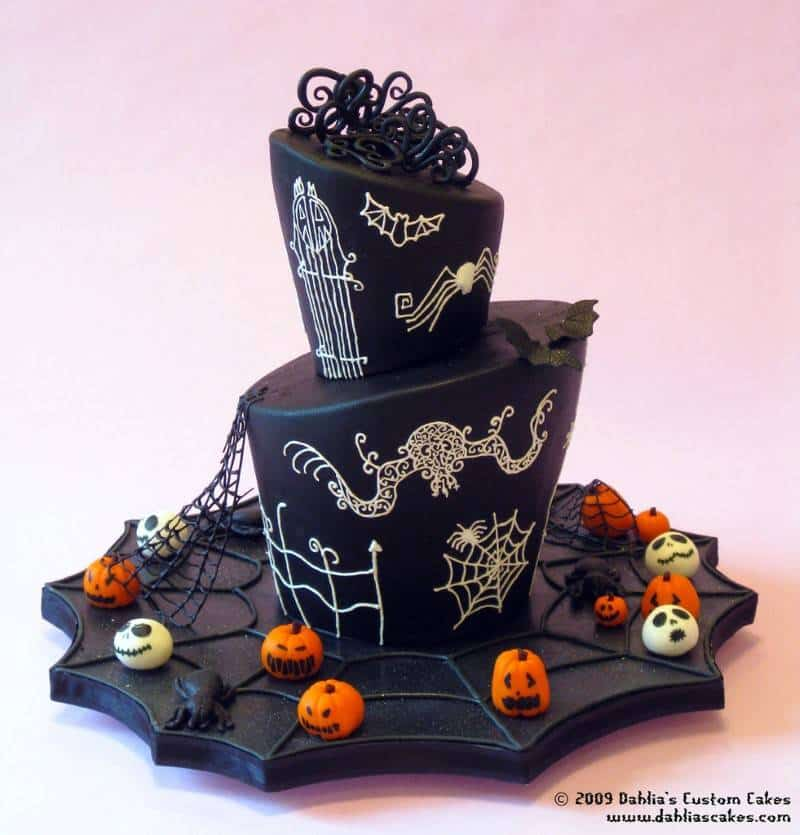Stunning Halloween Wedding Cakes