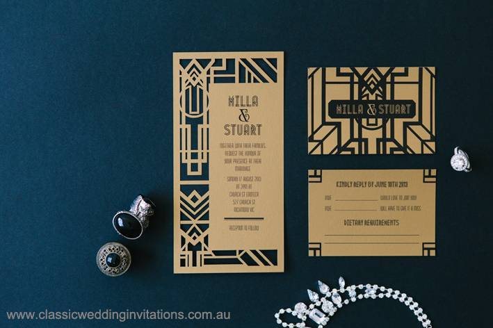 DL range laser cut invite