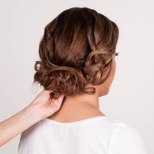 Wavy Textured Updo_Step 7