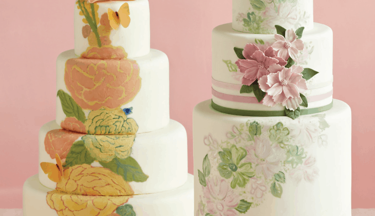2015 Wedding Trend: Hand-Painted Wedding Cakes