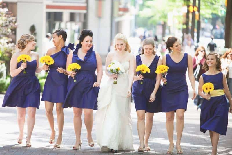 Blue-Bridesmaid-Dresses-With-Different-Styles