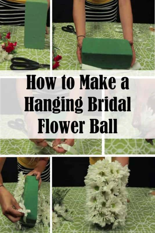 diy hanging-flower ball
