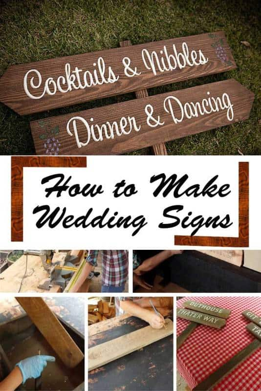 diy wedding-signs