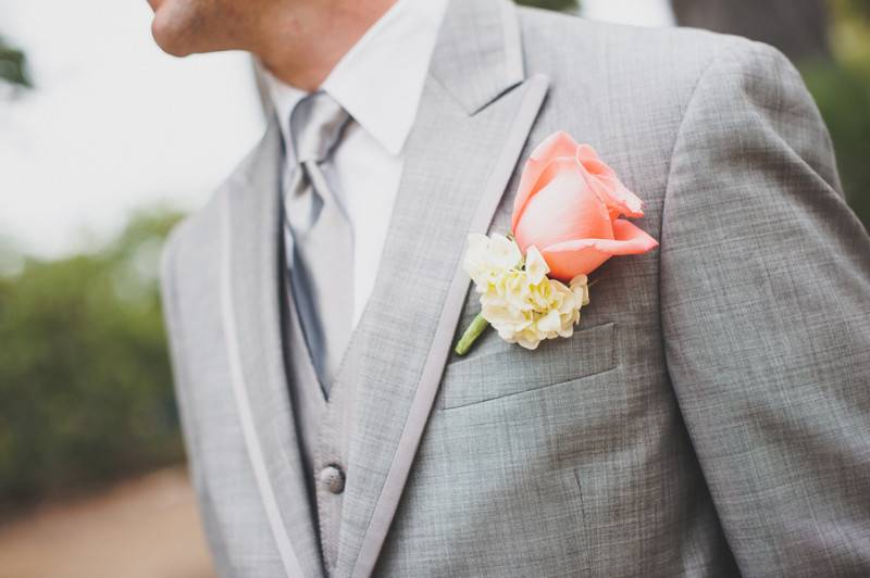 Celebrating Love In Coral And Gray