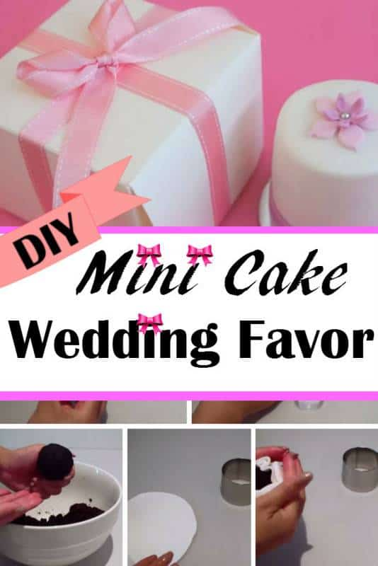diy mini cake wedding favor