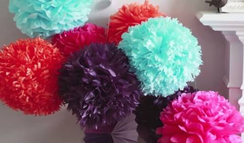 Diy wedding paper poms