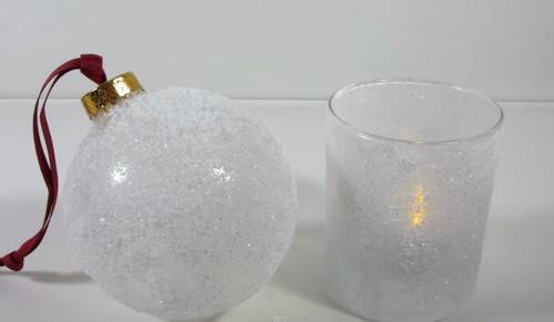Diy wedding frosted glass decor