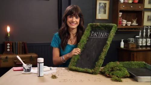 diy wedding rustic chalkboard menu