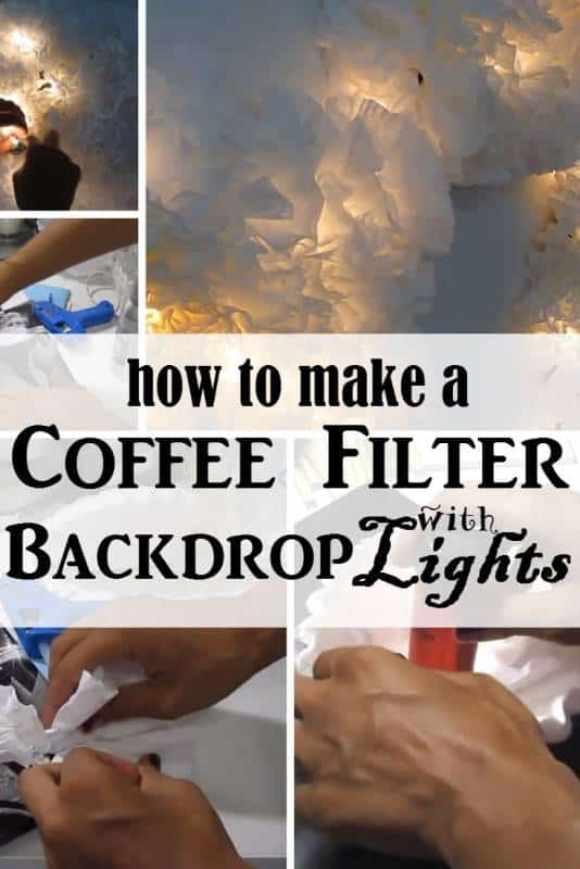 diy coffee filter backdrop