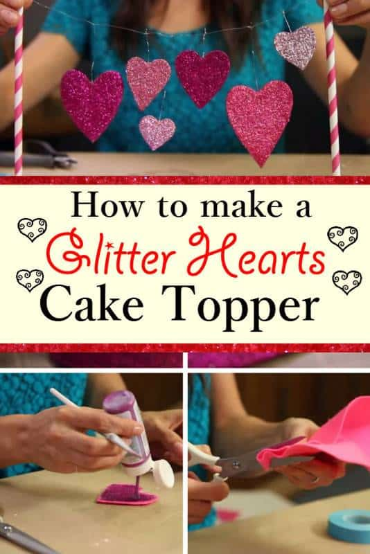 diy heart cake topper