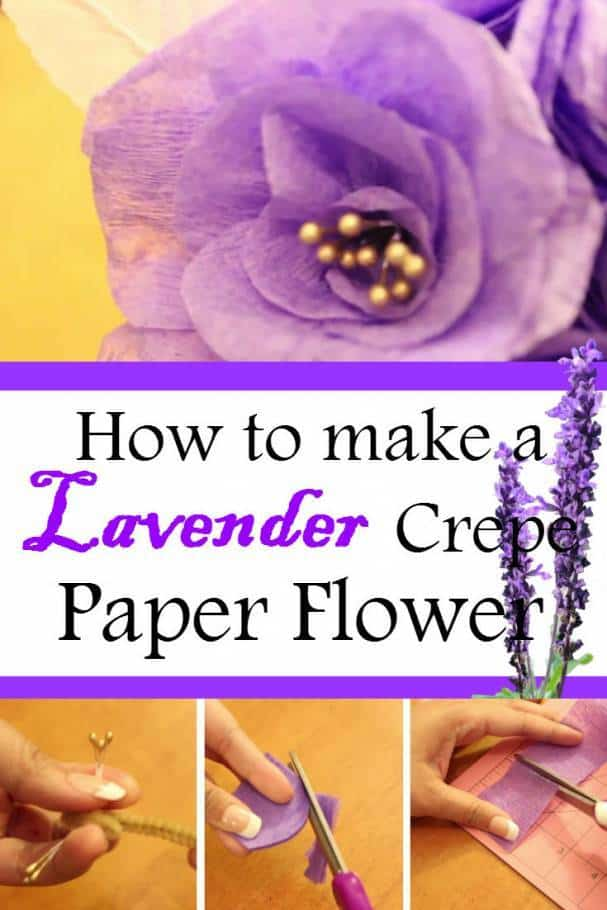 Diy Lavender Crepe Paper Flower Add Royalty Touch To Your Wedding