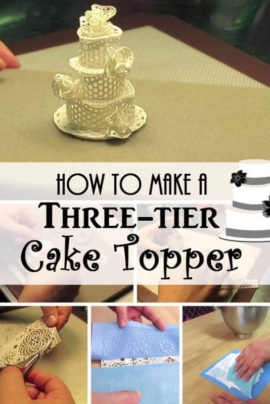 diy three-tier cake topper