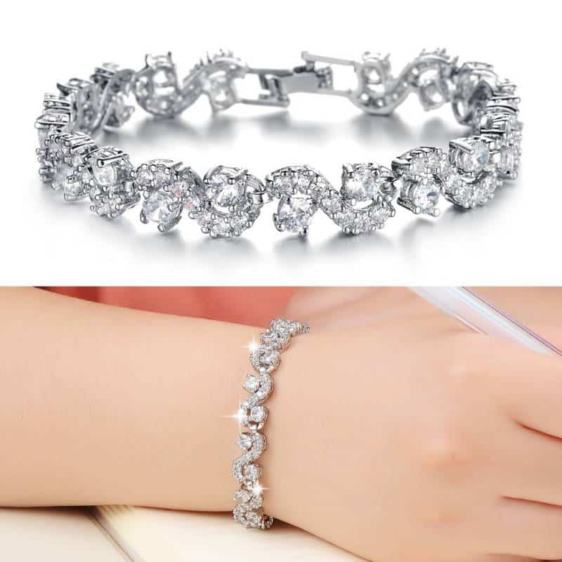 Brand-Best-Gift-For-Girl-Luxury-White-Blue-CZ-Diamond-Bracelets-Bangles-Top-Quality-White-Gold