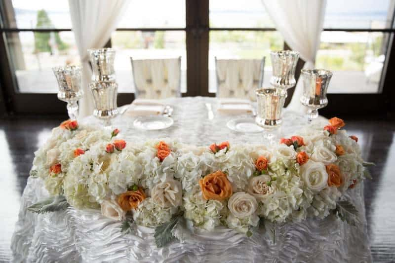 Sweetheart wedding table for Colin and Anastasia - Patricia Stimac, Seattle Wedding Officiant