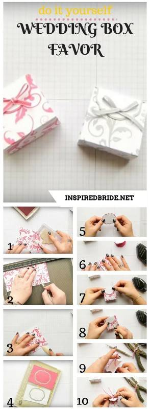 diy wedding box favor