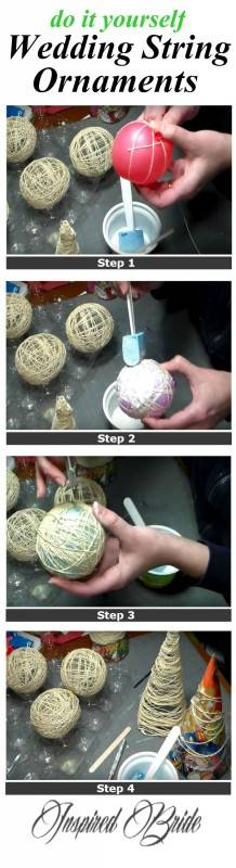diy wedding string ornaments