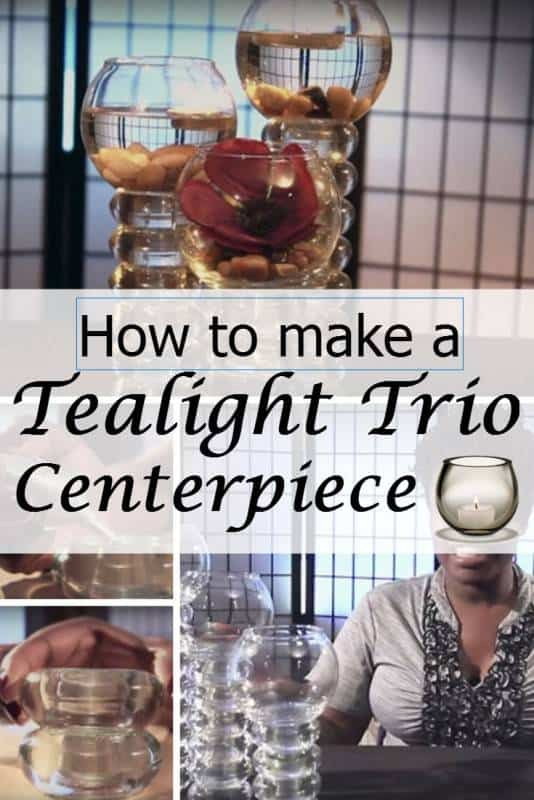 diy tealight trio centerpiece