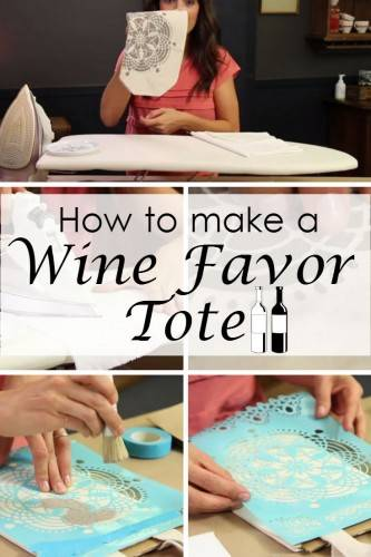DIY Wine Tote Wedding Favor