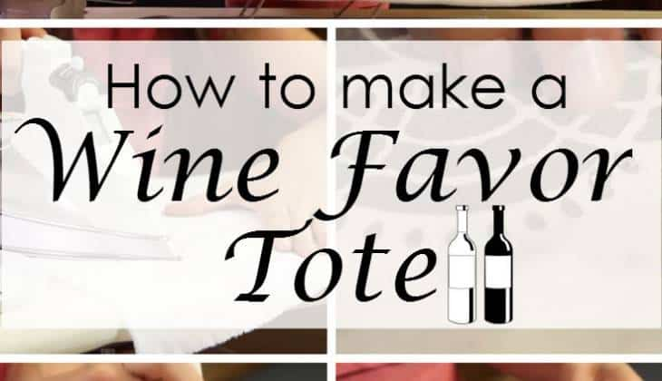 Simple and Gorgeous DIY Wine Tote Wedding Favor to Charm your Guests