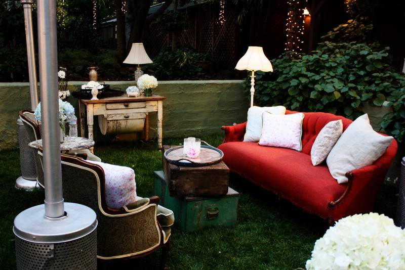 Shabby Chic Wedding - lounge area