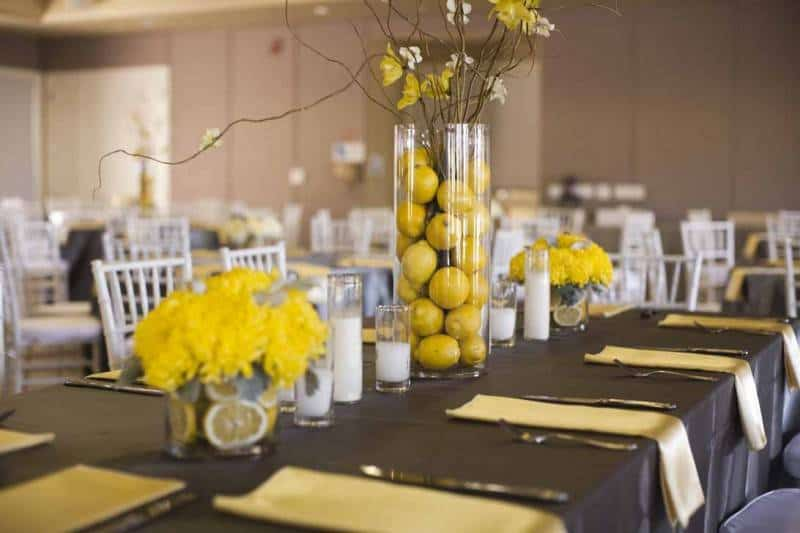 gray-and-yellow-wedding-centerpieces
