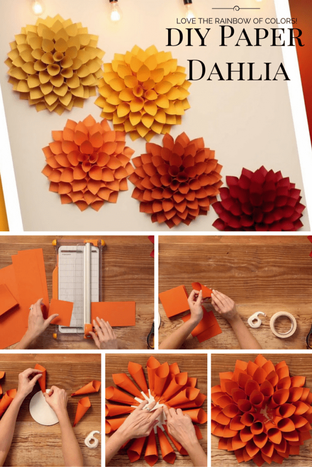 DIY Paper Dahlia - The Oversized Paper Version of the ...