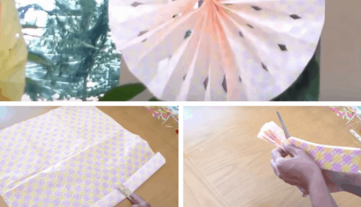 Spice Up your Wedding Space with Lovely and Inexpensive DIY Tissue Paper Rosette Fans