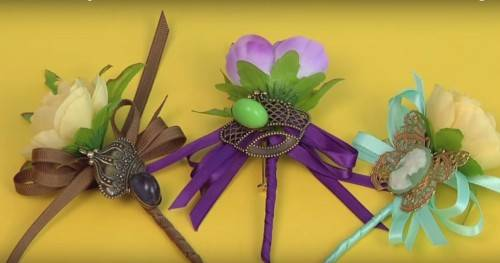 DIY Mens Wedding Boutonniere
