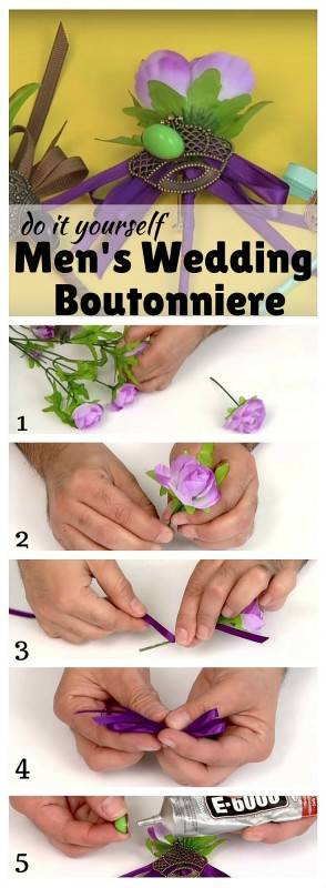 DIY Men's Wedding Boutonniere