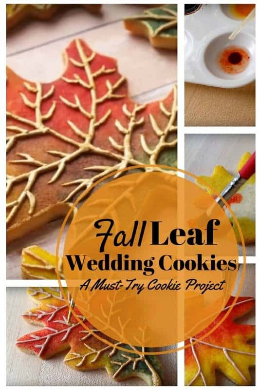Fall leaf wedding cookies diy