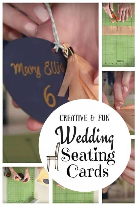 Wedding seating cards diy