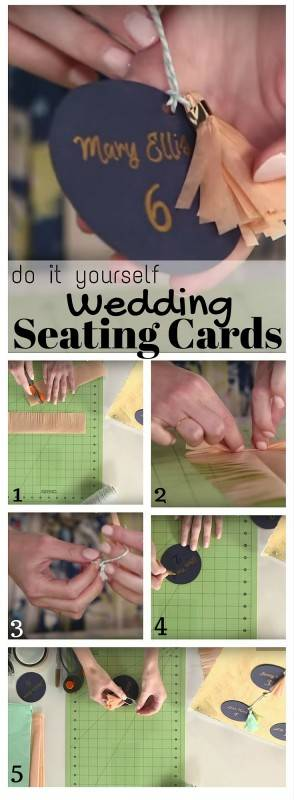 diy wedding seating cards