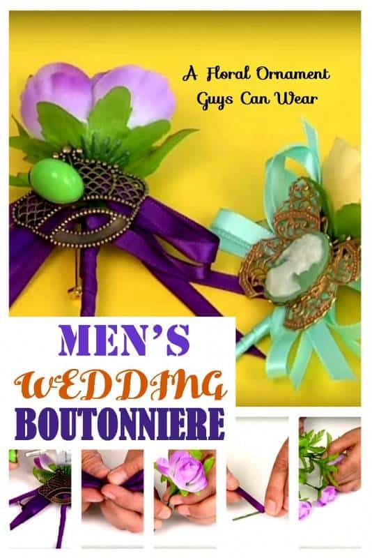 mens wedding boutonniere diy