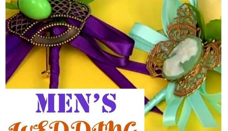 DIY Men's Wedding Boutonniere: A Floral Ornament Guys Can Wear