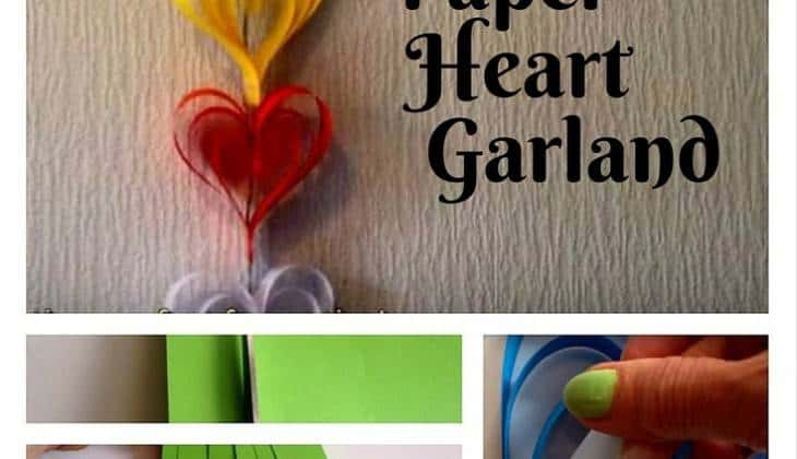 DIY Rainbow Paper Heart Garland: Simple, Elegant Decor Made from Hands