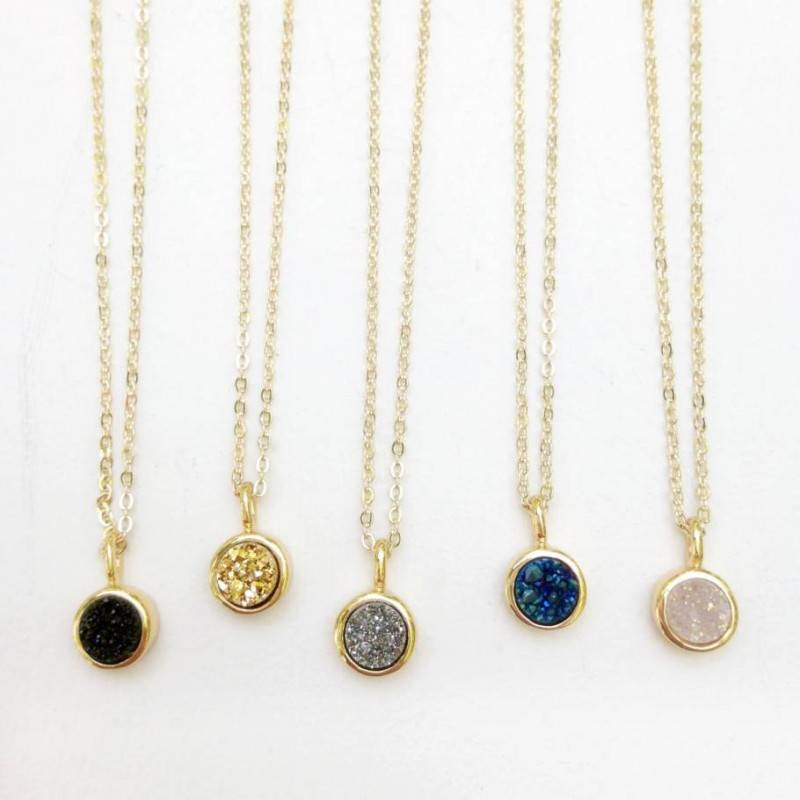 Druzy Wedding Jewelry: A Little Sparkle for a Winter Wedding