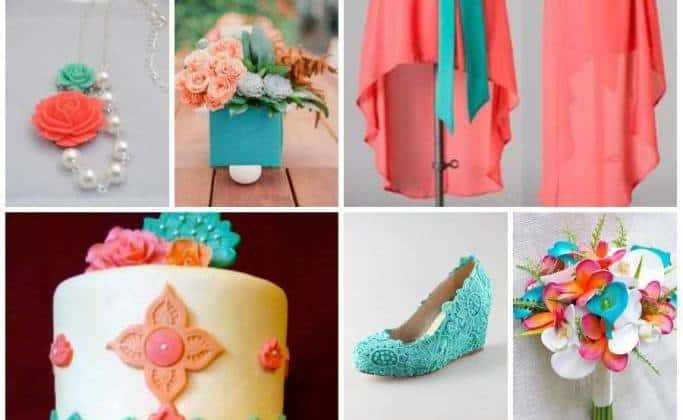 Color Combo: Peach and Coral + Turquoise