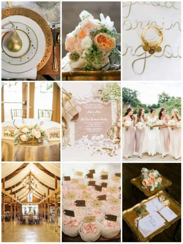 Color Whimsy: Gold + Ivory + Coral
