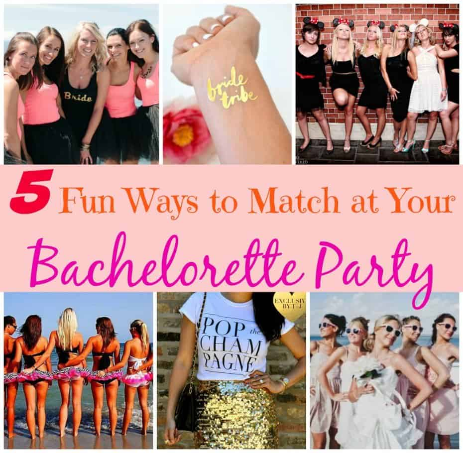 5 Fun Ways to Match at Your Bachelorette Party