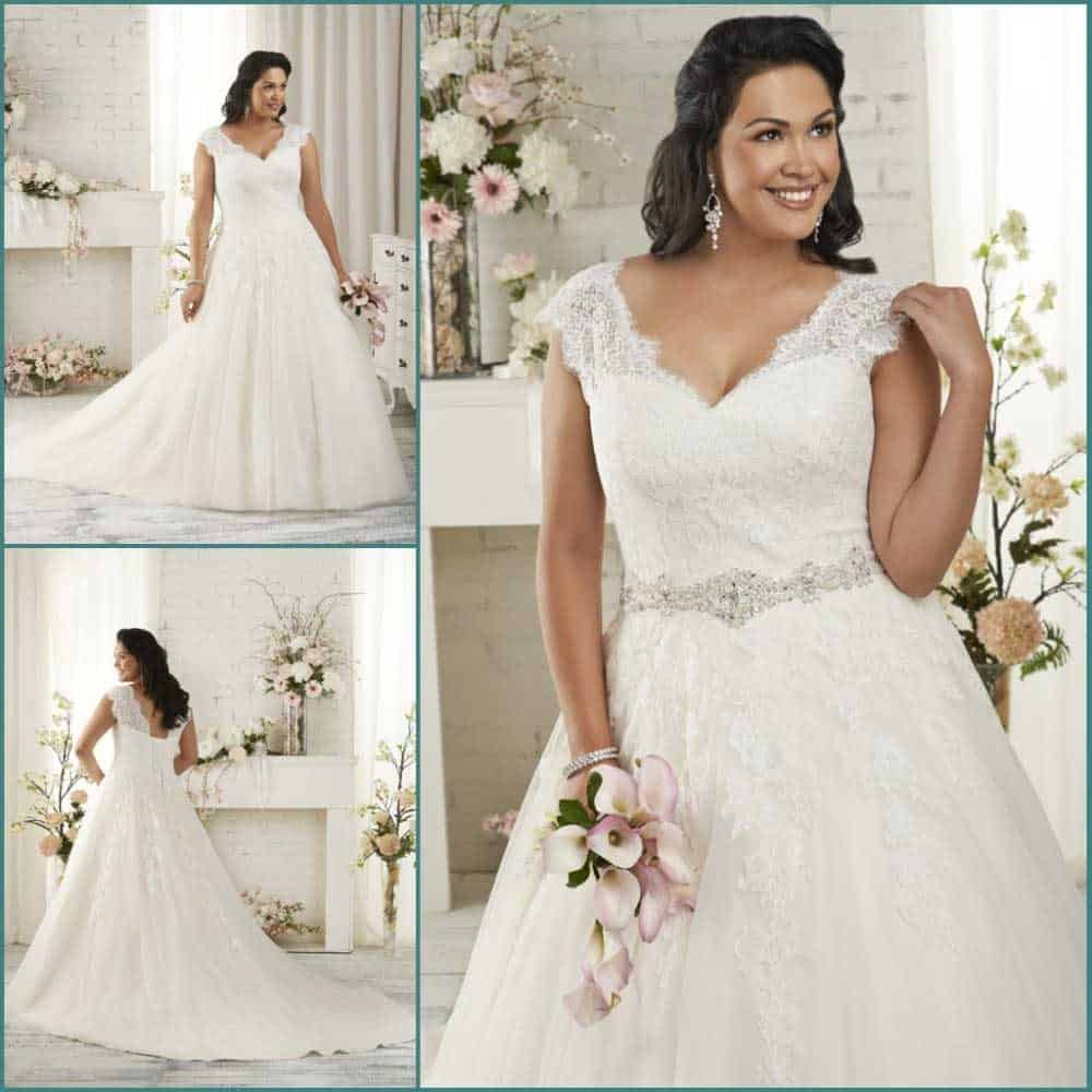 Plus Size Wedding Dresses - A-Line Wedding Dress