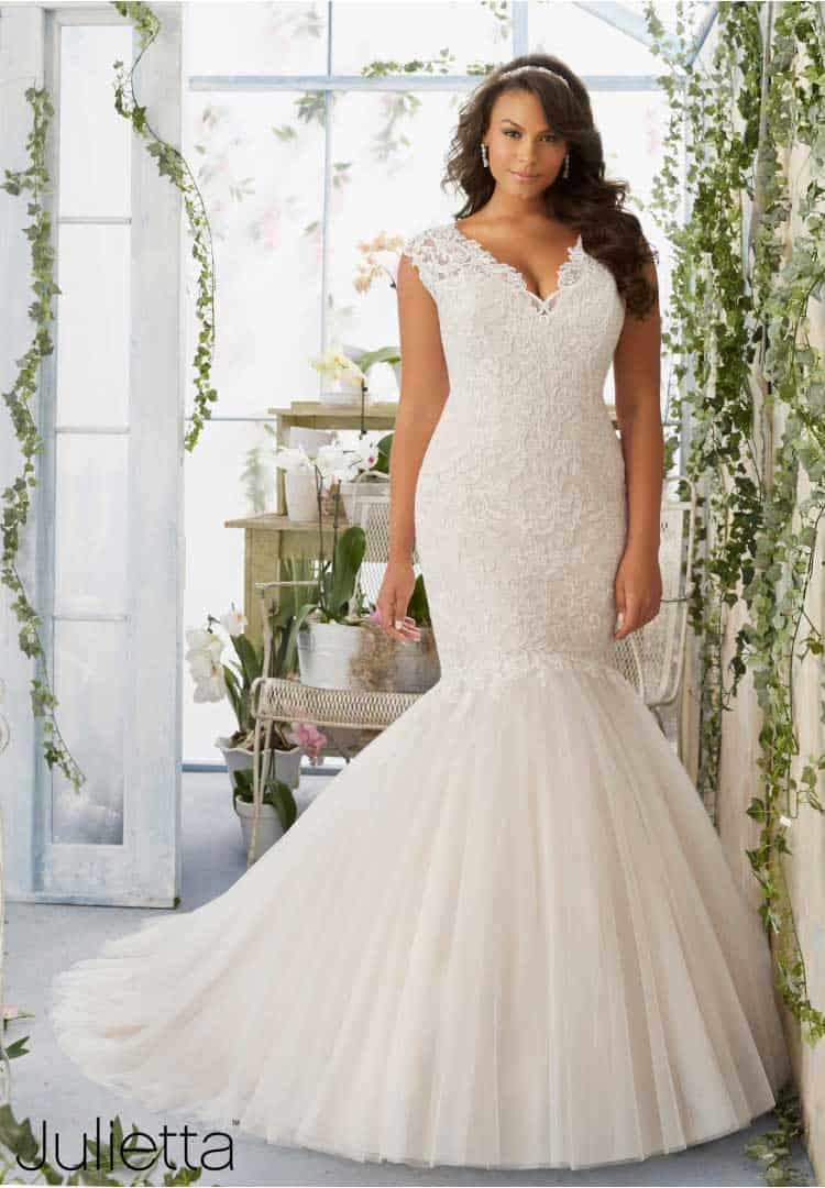 Plus Size Wedding Dresses - Julieta by Mori Lee